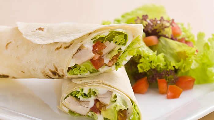 Avocado-Chicken Pita Roll