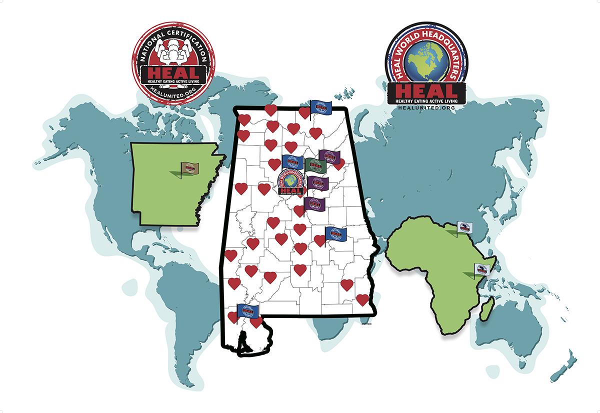 HEAL AL Map