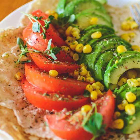 Avocado Vegetable Pitas