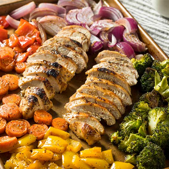One-Pan Roasted Chicken & Veggies