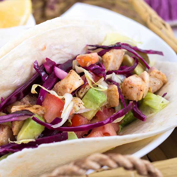 Fish Tacos with Cabbage Slaw