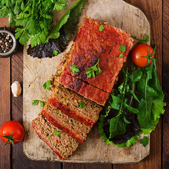 Ground Turkey & Vegetable Meatloaf