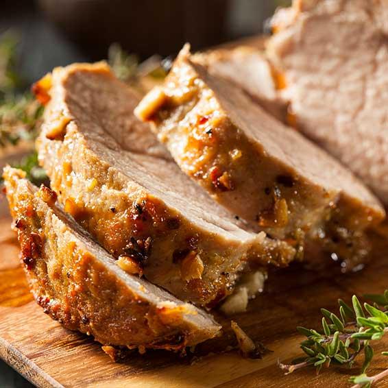 Heart Healthy Pork Tenderloin with Rice