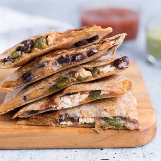 Jack Quesadilla with Cranberry Salsa