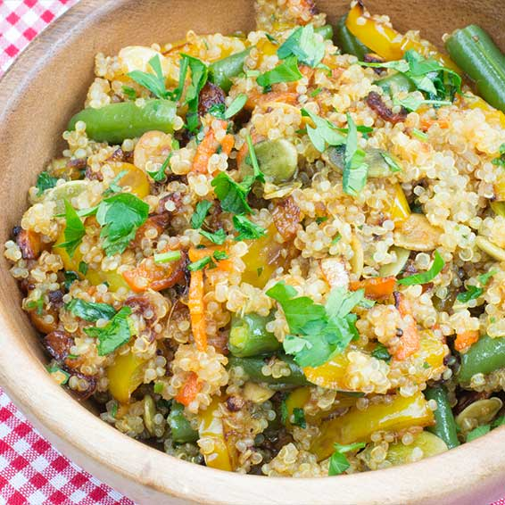 Slow Cook: Crock Pot Quinoa and Vegetables