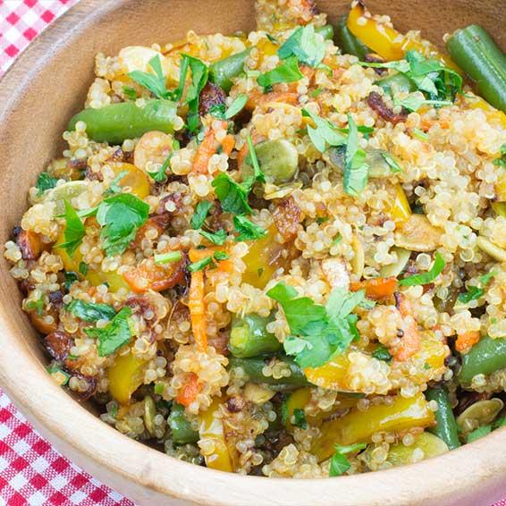 Slow Cook: Crock Pot Quinoa and Vegetables