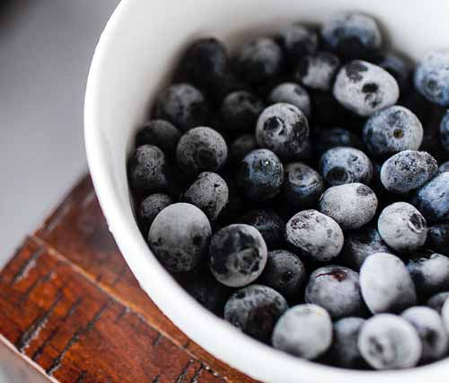 Frozen Yogurt Blueberries