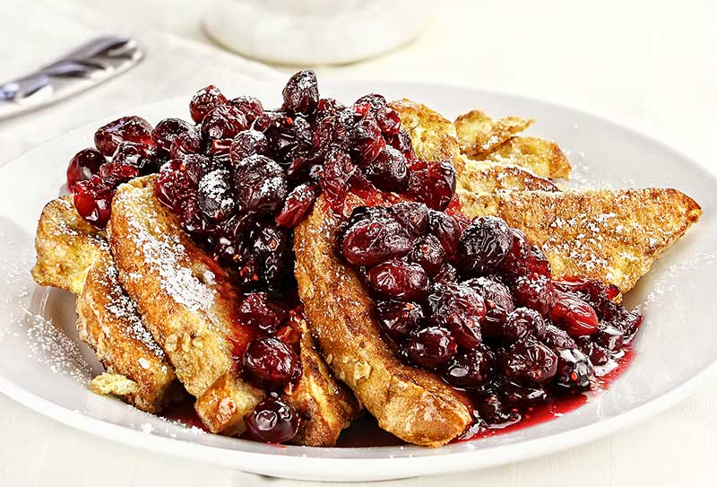 French Toast with Mixed Berry Syrup